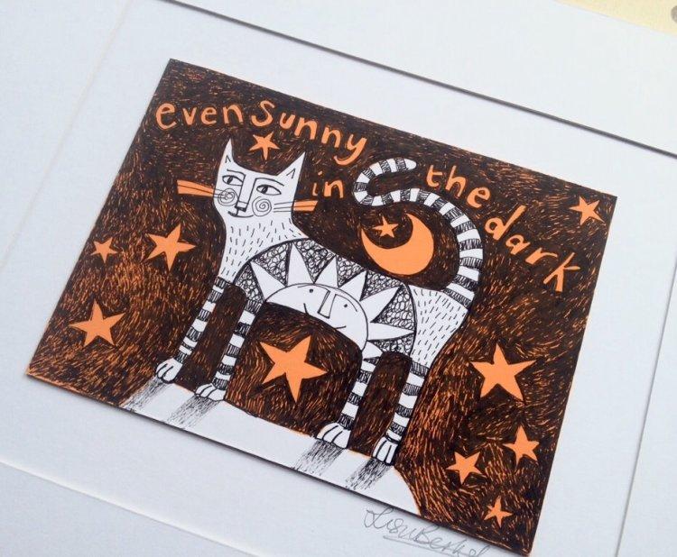 Sunny in the Dark Cat