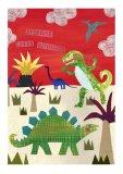 Dinosaurs Collage Artwork.