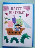 Girl's Happy Birthday Pirate Card