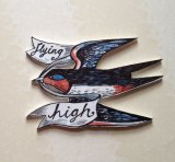 Illustrated Swallow brooch