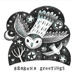 Winter Friends Christmas Card - Owl