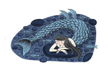 Sleeping Mermaid Stone.