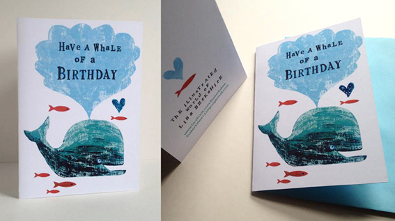 Have a Whale of a Birthday greetings card
