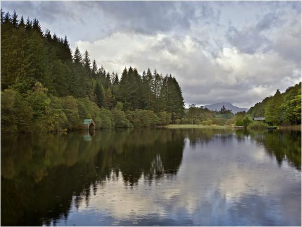 Showers over Loch Ard