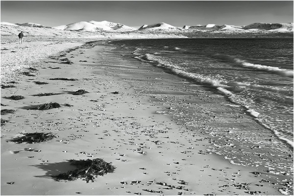Snowdonia from Newborough beach