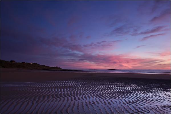 Dawn's reflected light