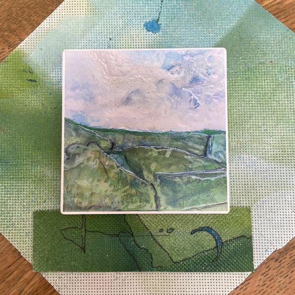 Pastures New Ceramic Coaster