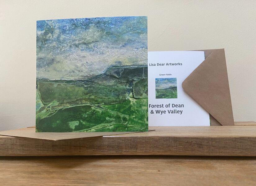 Green Fields Greetings Card