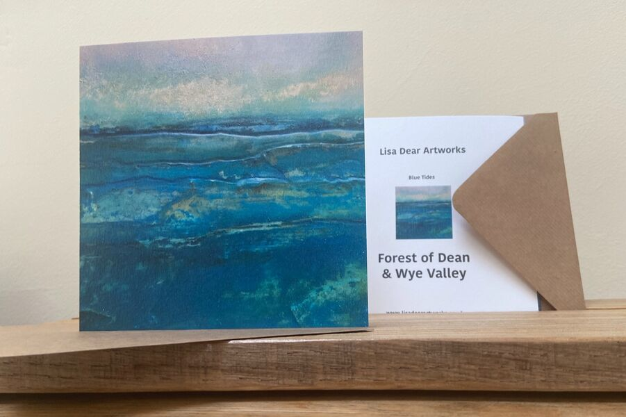 Blue Tides Greetings Card