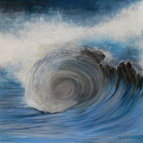 Always Turning Seascape Painting