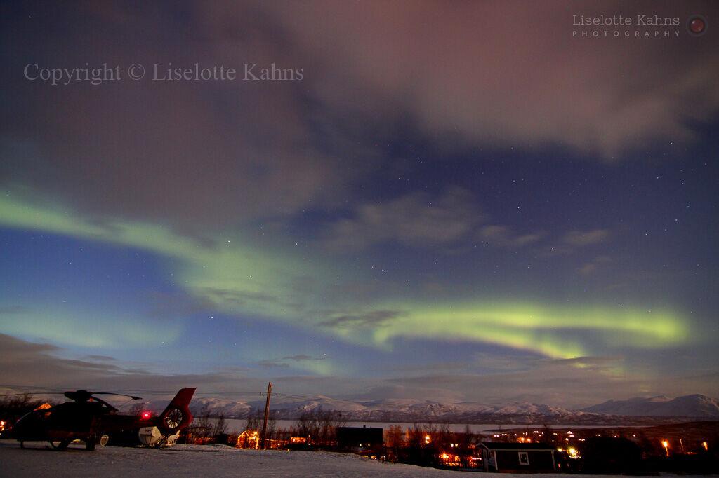 Aurora @frozen Lake Torne, Abisko, Swedish Lapland