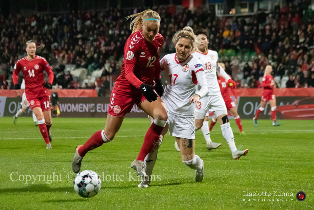 WMS NT, Denmark vs. Georgia. Viborg 2019. Stine Larsen in action
