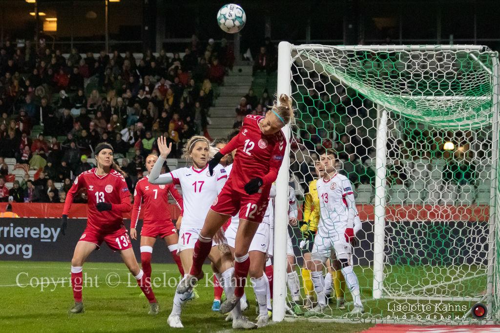 WMS NT, Denmark vs. Georgia. Viborg 2019. Stine Larsen in action