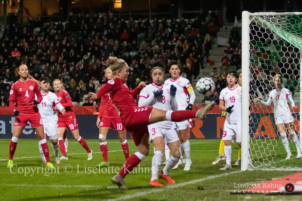 Denmark vs. Georgia. Nanna Christiansen in action