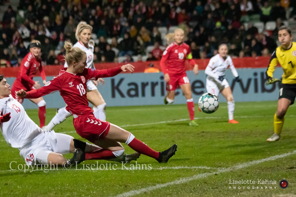 WMS NT, Denmark vs. Georgia. Viborg 2019. Sara Thrige in action