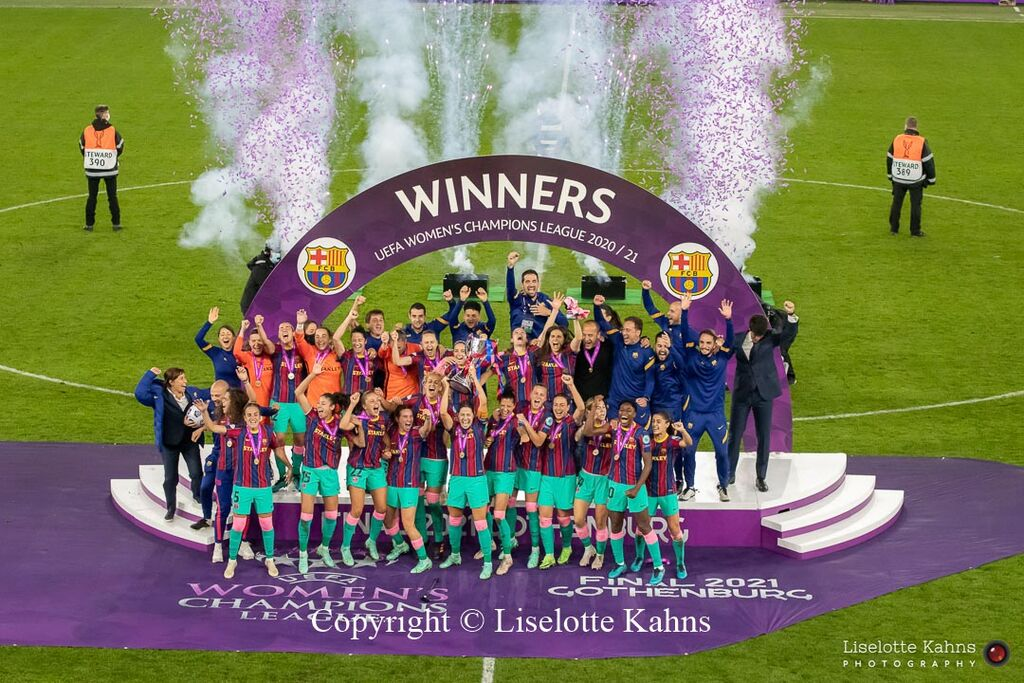 IMG 5025FC Barcelona are celebrated as winners of the UEFA Women's Champions League Final, Chelsea vs. FC Barcelona