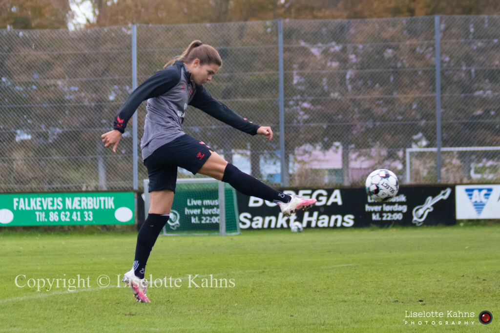 WEURO2022 training session in Viborg, October 2020. Signe Bruun on fire
