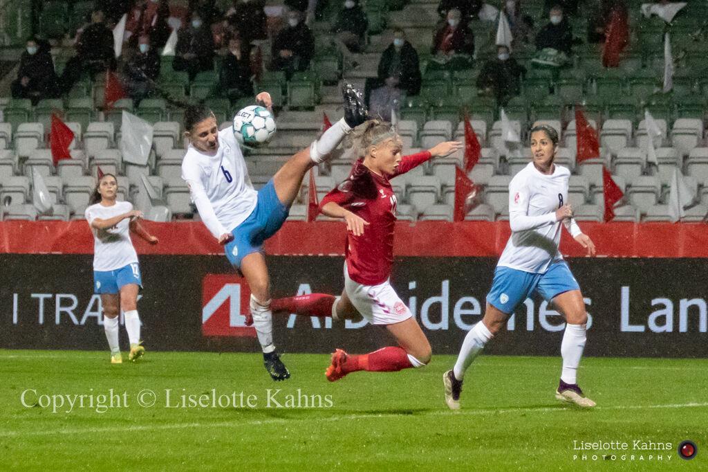 WMS NT, Denmark vs. Israel. Viborg 2020. Stine Larsen in action