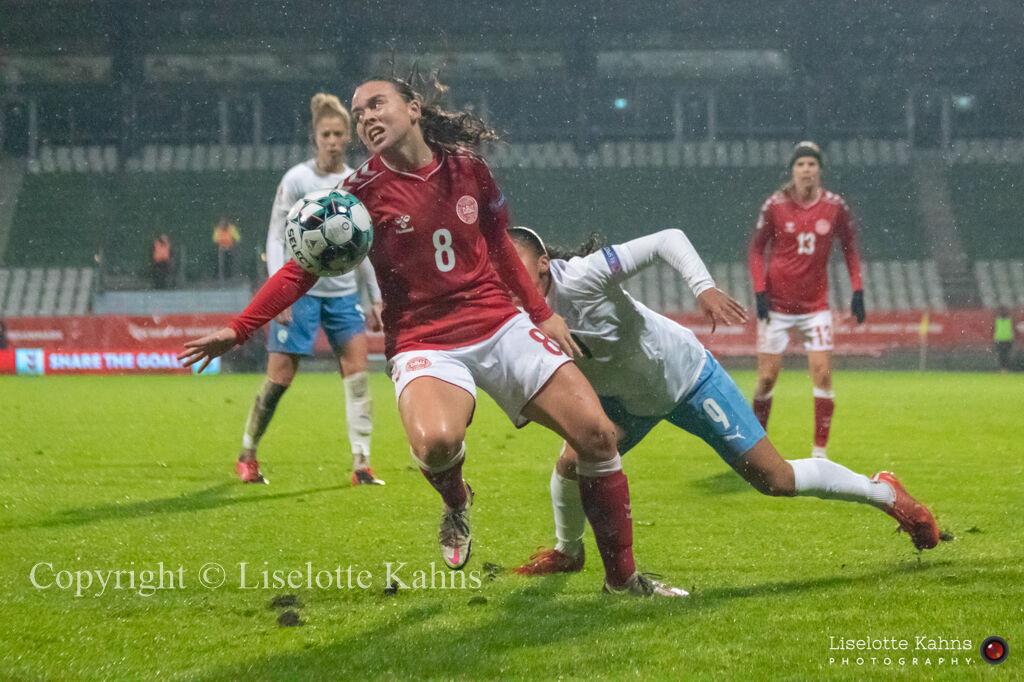 WMS NT, Denmark vs. Israel. Viborg 2020. Emma Snerle in action