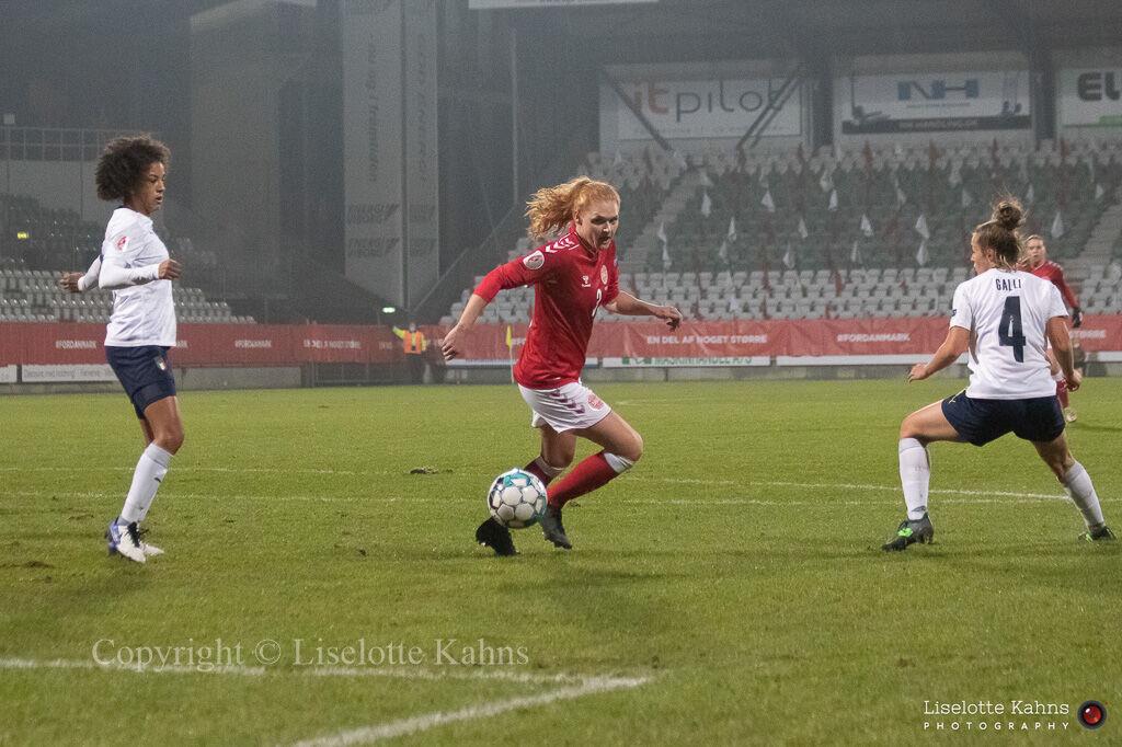 WMS NT, Denmark vs. Italy. Viborg 2020. Stine Ballisager in action
