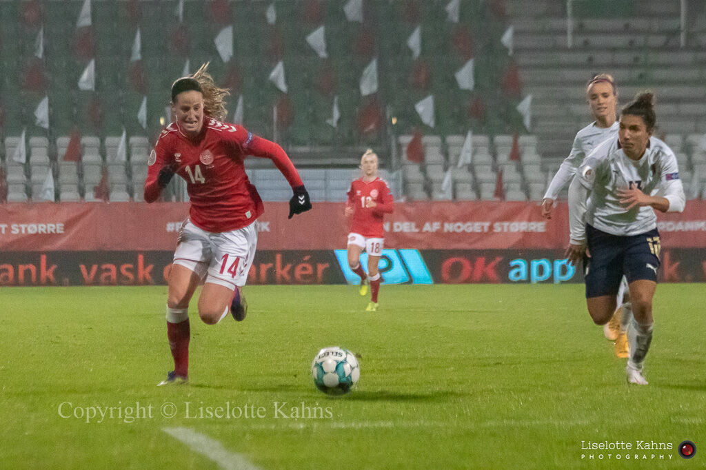 WMS NT, Denmark vs. Italy. Viborg 2020. Nicoline Sørensen in action