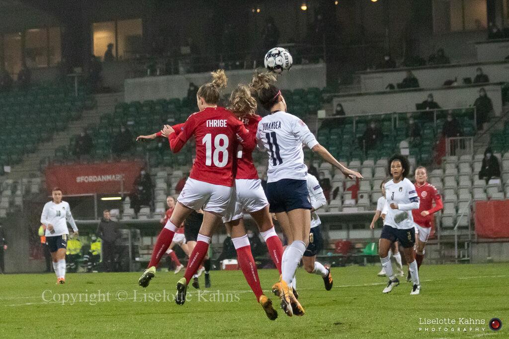 WMS NT, Denmark vs. Italy. Viborg 2020. Sara Thrige in action