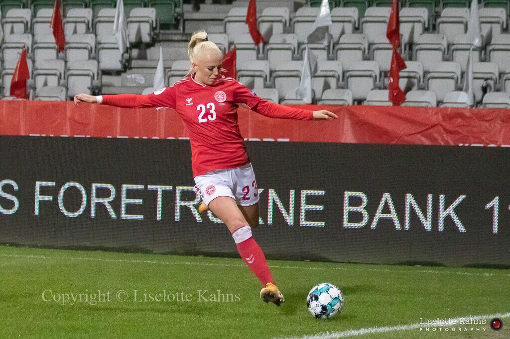 WMS NT, Denmark vs. Italy. Viborg 2020. Sofie Svava in action