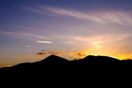 Mourne Mountains Silhouette - 4921