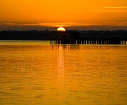 Sunset at Lough Neagh - 6857