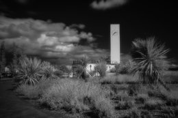 Marine Gardens, Clock Tower, Infrared - 3451
