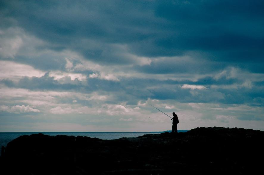 Fishing at Garron Point - 8278