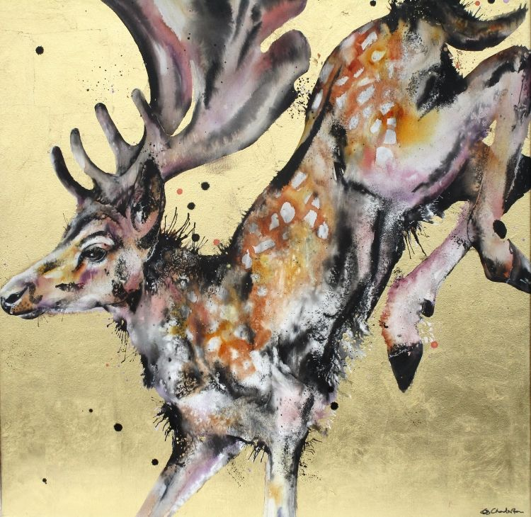 Leaping stag