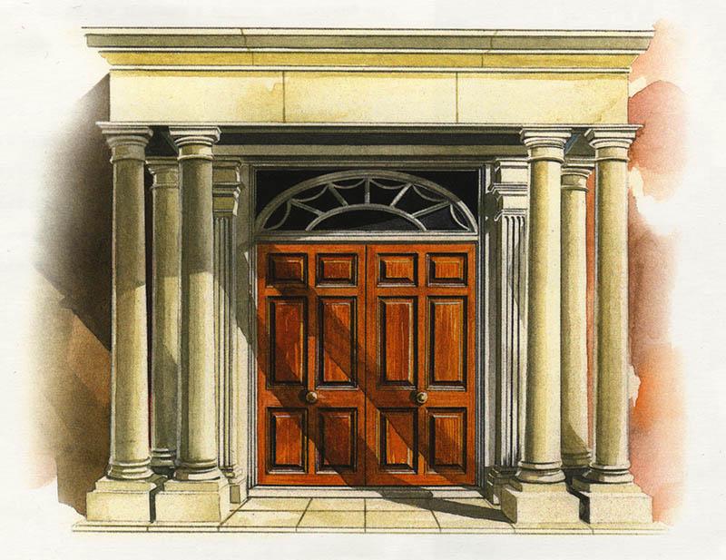 Ellesmere House front door
