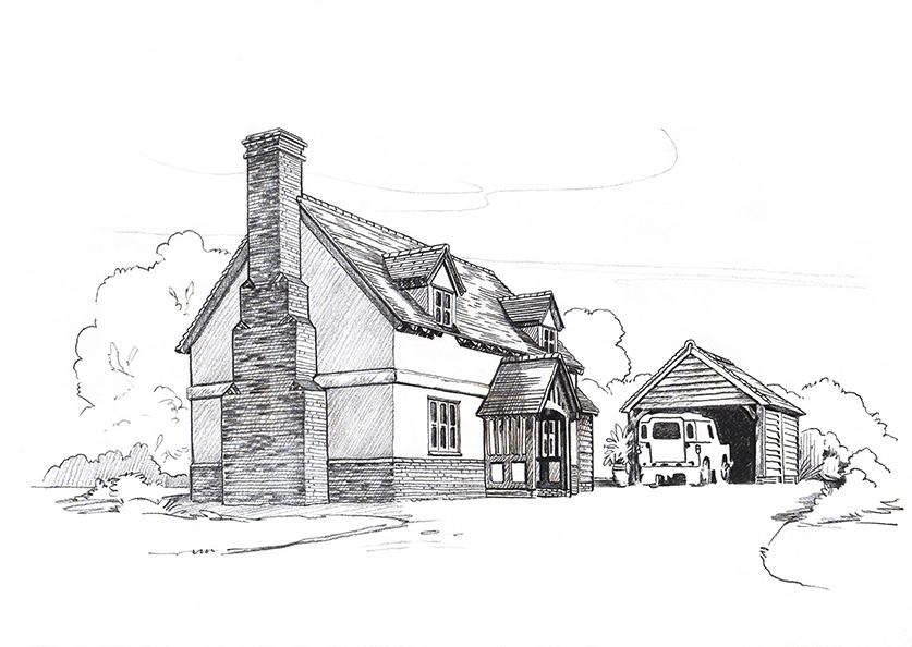 Oak frame house 1