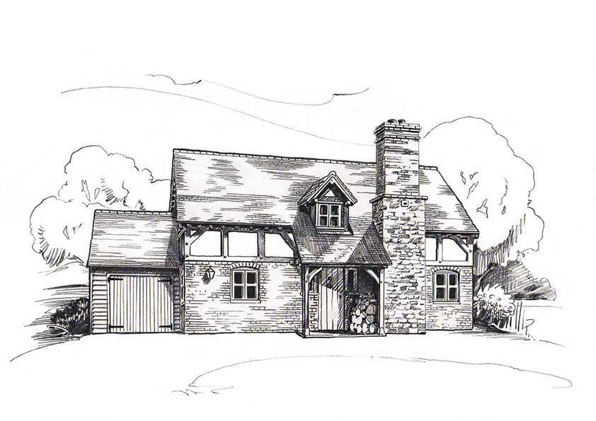 Oak frame house 2