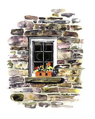Welsh cottage window