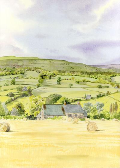 Haymaking at Tretower