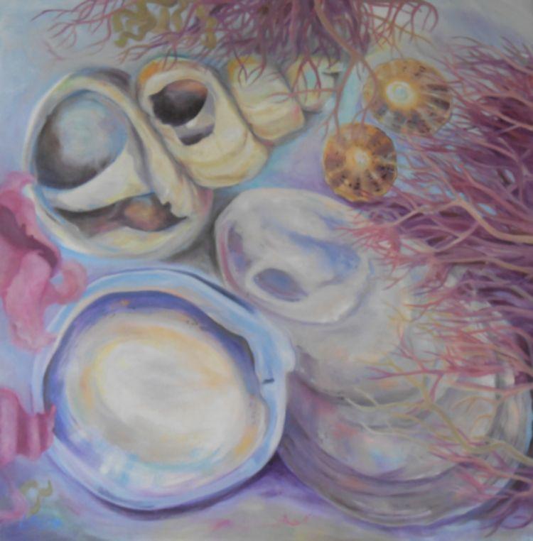 Rockpool 3 (oil on canvas)