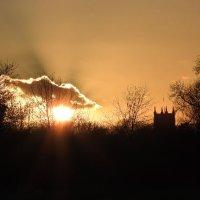 sunset at Dedham