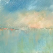 Across the Bay (oil on canvas, framed, 60x120 cm) SOLD