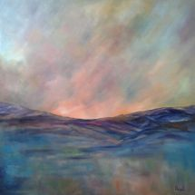 Blue Remembered Hills (oil on canvas, 100x100 cm)               SOLD