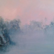 Field of Mist (oil on canvas, 60x120 cm)