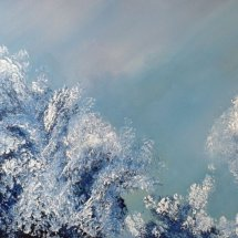 Frozen Forest (oil on canvas, 50x100 cm) SOLD