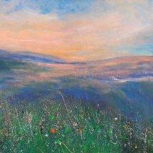 Spring's Veil (acrylic on canvas, 60x120 cm)