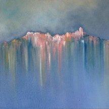 Morning Haze (oil on canvas, framed, 60x120 cm)