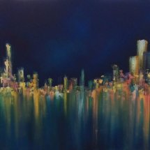Night City (oil on canvas, 50x100 cm)