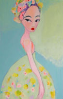 Yesterday I will be Alice Acrylic on canvas    SOLD