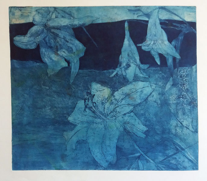 Blue Lilies etching £200
