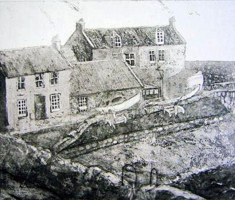 Cellardyke Harbour etching £180