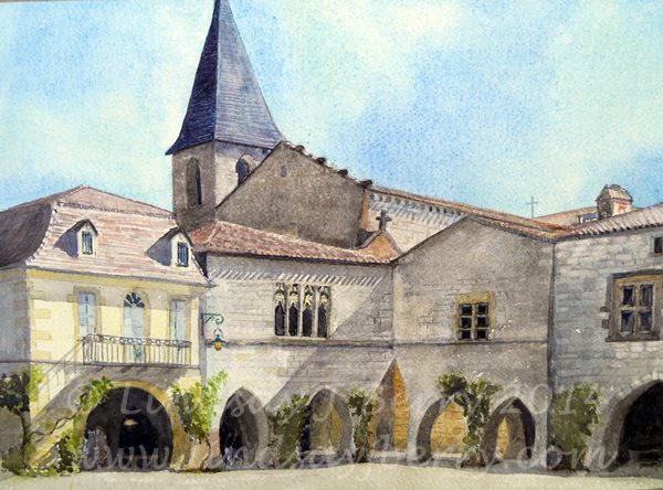The bastide of Monpazier, Dordogne